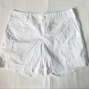 London Jean Cotton White Shorts